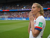 PARIS, FRANCE - JUNE 28: Allie Long #20 prior to a 2019 FIFA Women's World Cup France quarter-final match between France and the United States at Parc des Princes on June 28, 2019 in Paris, France.