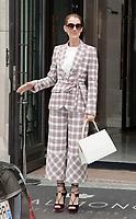July 20th 2017 - Paris, France - Singer Celine Dion leaves the Royal Monceau hotel on avenue Hoche.