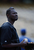 Jose Jimenez of the Colorado Rockies during a 2003 season MLB game at Dodger Stadium in Los Angeles, California. (Larry Goren/Four Seam Images)