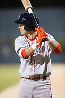 Mickey Moniak (22) of the Lakewood BlueClaws waits for his turn to hit during the game against the Kannapolis Intimidators at Kannapolis Intimidators Stadium on April 8, 2017 in Kannapolis, North Carolina.  The BlueClaws defeated the Intimidators 8-4 in 10 innings.  (Brian Westerholt/Four Seam Images)