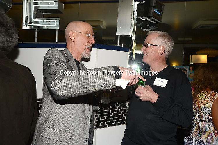 Dave and Cutler at the  People Magazine Employees Reunion on April 26, 2013 at Burger Heaven at 804  Lexington Avenue in New York City.