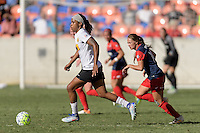 Houston, TX - Sunday Oct. 09, 2016: Jessica McDonald during the National Women's Soccer League (NWSL) Championship match between the Washington Spirit and the Western New York Flash at BBVA Compass Stadium. The Western New York Flash win 3-2 on penalty kicks after playing to a 2-2 tie.