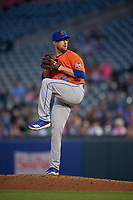 Syracuse Mets pitcher Jacob Rhame (22) during an International League game against the Buffalo Bisons on June 29, 2019 at Sahlen Field in Buffalo, New York.  Buffalo defeated Syracuse 9-3.  (Mike Janes/Four Seam Images)