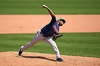 Minnesota Twins pitcher Alex Colomé (48) during a Major League Spring Training game against the Boston Red Sox on March 17, 2021 at JetBlue Park in Fort Myers, Florida.  (Mike Janes/Four Seam Images)