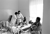 Asmara, Eritrea.November 2002.Birhan Aim Hospital  (Light to the Eye Hospital)..The third morning, following the surgery, patients are examined for the last time before being released from the hospital.