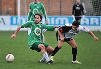 KVC Deerlijk Sport - Blauwvoet Otegem : duel tussen Steven Victor (links) en Shoaib Yaftali (rechts)<br /> foto VDB / Bart Vandenbroucke