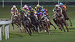 HONG KONG, CHINA - SEPTEMBER 16:  Runners come round the final bend in the Race 3 during the first night of horses races of the 2009/10 seasson at the Happy Valley racecourse in Hong Kong. The coming 2009/10 racing season marks the 125th Anniversary of The Hong Kong Jockey Club, which since its establishment in 1884. Photo by Victor Fraile / The Power of Sport Images