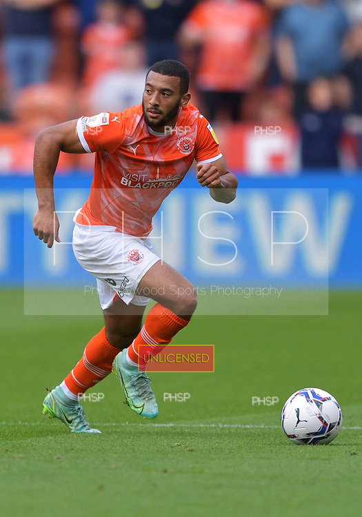 11/09/2021 Sky Bet Championship Blackpool v Fulham<br /> <br /> Keshi Anderson, Blackpool FC