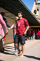 STANFORD, CA - February 17, 2018: Tarek Abdelghany at Avery Aquatic Center. The Stanford Cardinal defeated the California Golden Bears 151-149 on Senior Day.