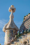 The Casa Batllo, a building designed by the architect Antoni Gaudi, Barcelona, Spain.<br />