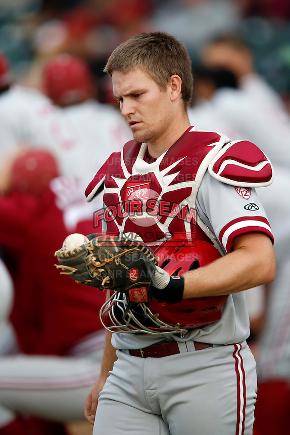 Brant Whiting #6 of the Stanford Cardinal during a game against the USC Trojans at Dedeaux Field on April 5, 2013 in Los Angeles, California. (Larry Goren/Four Seam Images)