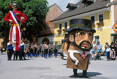 AUT, Oesterreich, Salzburger Land, Lungau, Mauterndorf: Samson-Umzug | AUT, Austria, Salzburger Land, Lungau, Mauterndorf: Samson-Procession