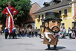 AUT, Oesterreich, Salzburger Land, Lungau, Mauterndorf: Samson-Umzug   AUT, Austria, Salzburger Land, Lungau, Mauterndorf: Samson-Procession