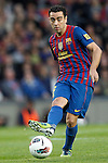 Barcelona's Xavi Hernandez during la liga match on april 21st 2012...Photo: Cesar Cebolla / ALFAQUI