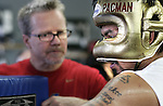 """April 21, 2011, Hollywood,Ca. ---  Superstar Manny Pacquiao(R) listens to trainer Freddie Roach(L) during sparring at the Wildcard Boxing Club in Hollywood Thursday in preparation for his upcoming World Welterweight mega fight against """"Sugar"""" Shane Mosley on Saturday, May 7 at the MGM Grand in Las Vegas.  Pacquiao vs Mosley is promoted by Top Rank in association with MP Promotions,Sugar Shane Mosley Promotions,Tecate and MGM Grand.  The Pacquiao vs Mosley telecast will be available live on SHOWTIME Pay Per View.  --- Photo Credit : Chris Farina - Top Rank  (no other credit allowed)  copyright 2011"""