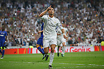 Real Madrid´s Cristiano Ronaldo celebrates after scoring a goal (1-0) at a penalty kick during the Champions League semi final soccer match between Real Madrid and Juventus at Santiago Bernabeu stadium in Madrid, Spain. May 13, 2015. (ALTERPHOTOS/Victor Blanco)
