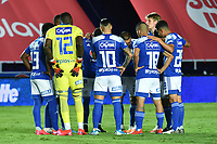 CALI – COLOMBIA, 07-11-2020: América de Cali y Millonarios FC en partido por la fecha 18 de la Liga BetPlay DIMAYOR I 2020 jugado en el estadio Pascual Guerrero de la ciudad de Cali. / América de Cali and Millonarios FC in match for the date 18 as part of BetPlay DIMAYOR League I 2020 played at the Pascual Guerrero stadium in Cali city. Photos: VizzorImage / Gabriel Aponte / Staff / Nelson Rios / Cont
