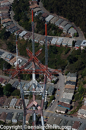 aerial photograph of Sutro Tower, San Francisco, California
