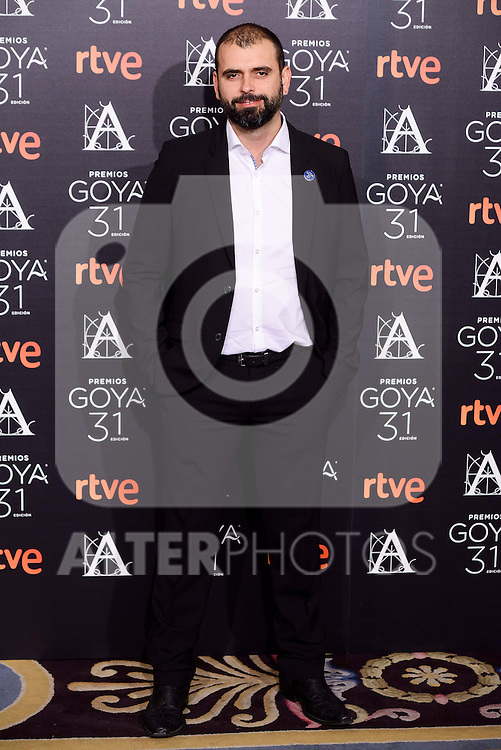 Alexis Morante attends to the 2017 Goya Awards Candidates Cocktail at Ritz Hotel in Madrid, Spain. January 12, 2017. (ALTERPHOTOS/BorjaB.Hojas)