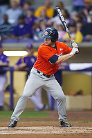 Auburn Tigers outfielder Cullen Wacker #3 at bat against the LSU Tigers in the NCAA baseball game on March 23, 2013 at Alex Box Stadium in Baton Rouge, Louisiana. LSU defeated Auburn 5-1. (Andrew Woolley/Four Seam Images).