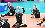 Doug Learoyd, Darek Symonowics, and Bryce Foster, Lima 2019 - Sitting Volleyball // Volleyball assis.<br />