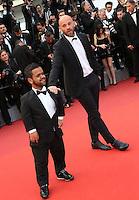 FRANCK GASTAMBIGE ANOUAR TOUBALI<br /> 69 EME FESTIVAL DE CANNES MONTEE DES MARCHES DU FILM MONEY MONSTER<br /> RED CARPET MONEY MONSTER<br /> LE 12 05 2016