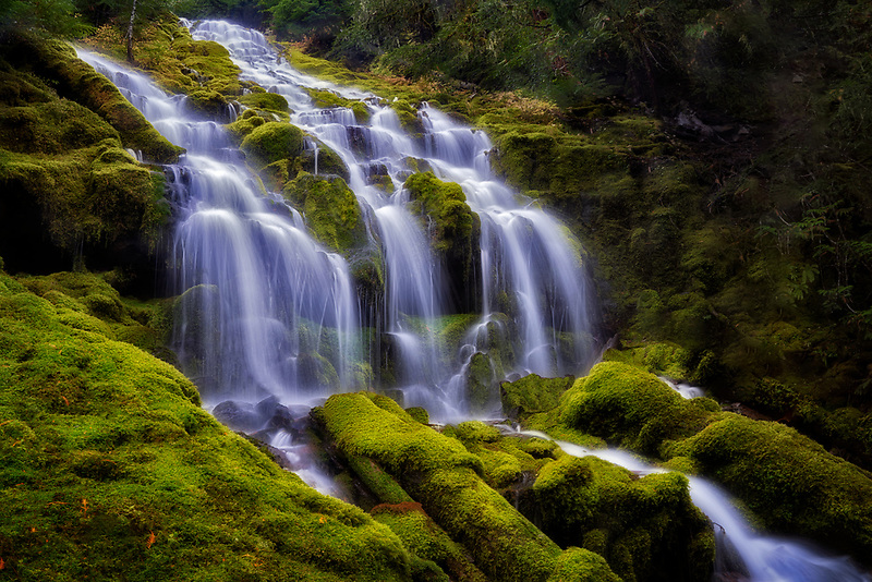 Upper Proxy Falls, Three Sisters Wilderness,Oregon