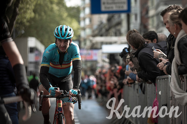 Spanish National Champion Gorka Izagirre (ESP/ASTANA) after finishing. <br /> <br /> 105TH Liège-Bastogne-Liège 2019 (1.UWT)<br /> 1 Day Race Liège-Liège (256km)<br /> <br /> ©kramon