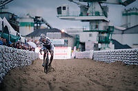 Mathieu van der Poel (NED/Corendon-Circus) once again proving to be the dominant rider of the pack > crossing the sandbox<br /> <br /> men's race<br /> Soudal Jaarmarktcross Niel 2018 (BEL)
