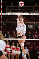 STANFORD, CA - November 15, 2017: Merete Lutz at Maples Pavilion. The Stanford Cardinal defeated USC 3-0 to claim the Pac-12 conference title.