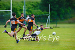 Brendan O'Sullivan Austin Stacks and Brendan Coppinger Dr Crokes during their Div1 County League game in Lewis Road on Saturday