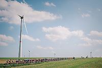 windmills & peloton<br /> <br /> 59th Grand Prix de Wallonie 2018 <br /> 1 Day Race from Blegny to Citadelle de Namur (BEL / 206km)