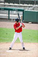 GCL Red Sox center fielder Cole Brannen at bat during a game against the GCL Twins on July 15, 2017 at the JetBlue Park in Fort Myers, Florida.  GCL Red Sox defeated the GCL Twins 6-1.  (Brace Hemmelgarn/Four Seam Images)