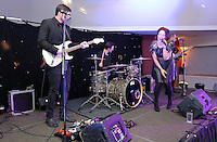 Pictured: Live band on stage<br /> Re: Swansea City FC Christmas party at the Liberty Stadium, south Wales, UK.