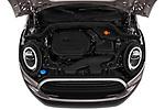 Car stock 2019 Mini MINI One 3 Door Hatchback engine high angle detail view