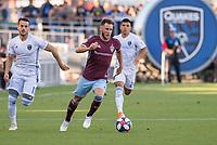 SAN JOSÉ CA - JULY 27: Keegan Rosenberry #7 during a Major League Soccer (MLS) match between the San Jose Earthquakes and the Colorado Rapids on July 27, 2019 at Avaya Stadium in San José, California.