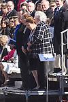 01.10.2012. The Spanish Royal Family, King Juan Carlos, Queen Sofia, Prince Felipe, Princess Letizia and Princess Elena attend the imposition of collective Distinguished Cross San Fernando Al Banner Armored Cavalry Regiment ´Alcántara´ No. 10 in the Royal Palace in Madrid, Spain. In the image Dukes of Calabria, Carlos de Borbon Dos Sicilias and Ana of Orleans (Dukes of Calabria), Princess Margarita de Borbon and Carlos Zurita (Dukes of Soria) and  Princess Pilar de Borbon (Duchess of Badajoz).  (Alterphotos/Marta Gonzalez)