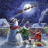 Marcello, CHRISTMAS CHILDREN, WEIHNACHTEN KINDER, NAVIDAD NIÑOS, paintings+++++,ITMCXM1372B,#xk#,Santa,sledge