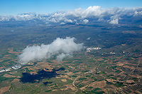 The vast Seville countryside seen from high altitude, Seville, Andalusia, Spain.