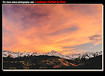 Landscape photographers hope for snow-capped peaks in the fall. <br /> Sneffels Range at sunset, Colorado. John offers autumn photo tours throughout Colorado. John guides custom photo tours in the Sneffels Range and throughout Colorado.