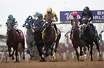 DEL MAR, CA - NOVEMBER 03: The pack of horses in the the Breeders' Cup Las Vegas Dirt Mile come out of the gates on Day 1 of the 2017 Breeders' Cup World Championships at Del Mar Thoroughbred Club on November 3, 2017 in Del Mar, California. (Photo by Alex Evers/Eclipse Sportswire/Breeders Cup)