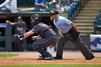 Georgia Tech Yellow Jackets catcher Kyle McCann (15) on defense against the Miami Hurricanes during game one of the 2017 ACC Baseball Championship at Louisville Slugger Field on May 23, 2017 in Louisville, Kentucky. The Hurricanes walked-off the Yellow Jackets 6-5 in 13 innings. (Brian Westerholt/Four Seam Images)