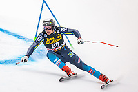 29th December 2020; Stelvio, Bormio, Italy; FIS World Cup Super G for Men;  Felix Monsen of Sweden in action during his run for the men Super G race