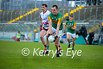 Jack Barry, Kerry in action against Ronan Steede, Galway during the Allianz Football League Division 1 South Round 1 match between Kerry and Galway at Austin Stack Park in Tralee.