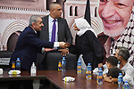 Palestinian Prime Minister Mohammed Ishtayeh is touring, in the West Bank city of Jenin on October 11, 2021. Photo by Prime Minister Office