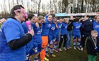 AA Gent Ladies Beloften kampioen 3e nationale A 13-14<br /> foto David Catry
