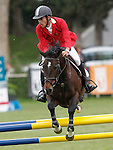 Spain's jockey Jaime Gabarron with the horse Cala de Quijas during 102 International Show Jumping Horse Riding, King's College Trophy. May, 20, 2012. (ALTERPHOTOS/Acero)