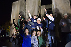 Nov. 17, 2012; Students gather around Stonehenge to celebrate after losses by two previously undefeated teams allowed Notre Dame to jump to number one in the BCS standings.