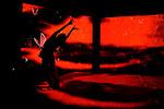 BABAYAGA....Direction artistique Davide Venturini, Francesco Gandi..Conception visuelle Elsa Mersi..Collaboration à la chorégraphie Paola Lattanzi..Ingénierie informatique Rossano Monti, Martin Von Gunten..Son et chant Spartaco Cortesi, Naomi Berril..Collaboration au texte Stefania Zampiga..Console Saulo D'Isita, Massimiliano Fierli..Objets et costumes Livia Cortesi, Fiamma Ciotti Farulli.. Avec Carolina Amoretti, Sara Campinoti..Lieu : Théâtre National de Chaillot..Ville : Paris..Le 19/02/2013..© Laurent Paillier / photosdedanse.com