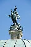 Deutschland, Bayern, Oberbayern, Muenchen: Hofgarten, Hofgarten-Tempel mit Bavaria Statue | Germany, Bavaria, Upper Bavaria, Munich: Hof garden, Hof-garden temple with Bavaria-statue